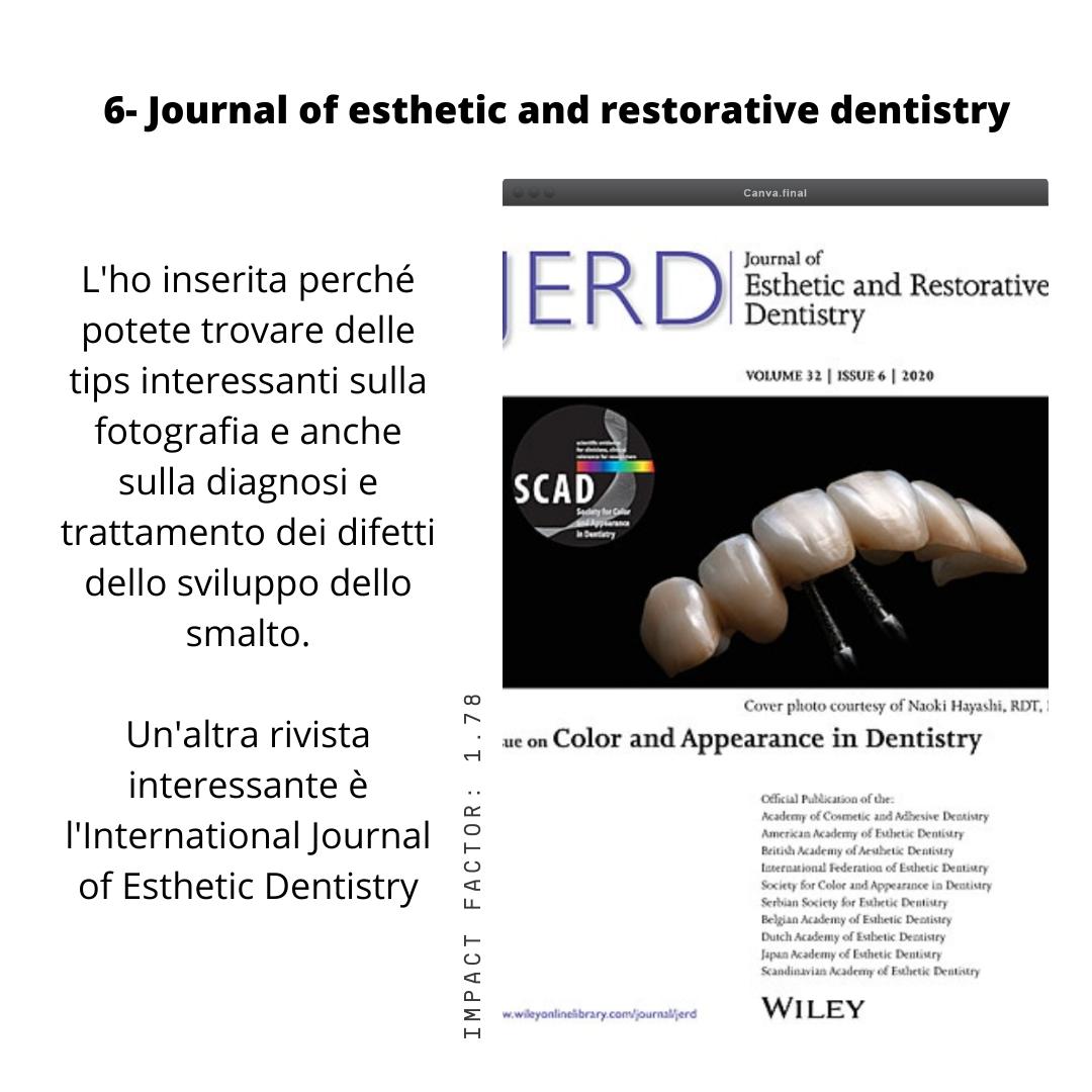 le riviste scientifiche per igienisti dentali
